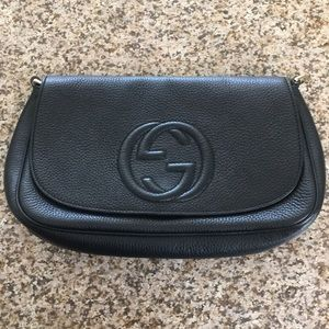 Authentic Gucci medium crossbody embossed GG logo